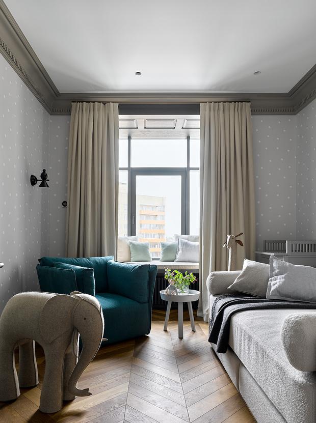 Фото №11 - Московская квартира 300 м² с английским акцентом