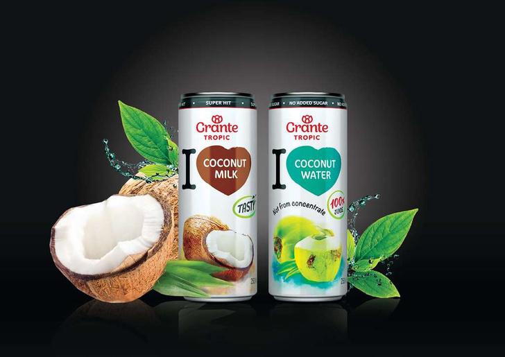 Фото №2 - Grante выпустил линейку экзотических 100% соков Tropic для всех, кто мечтал о кокосовом молоке и воде из тропиков!