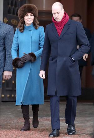 Фото №12 - Кейт Миддлтон и принц Уильям в Норвегии: день первый