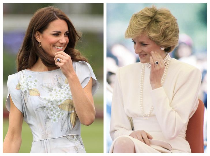 Фото №1 - Не только кольцо Дианы и Кейт: еще одно знаменитое сапфировое украшение Виндзоров
