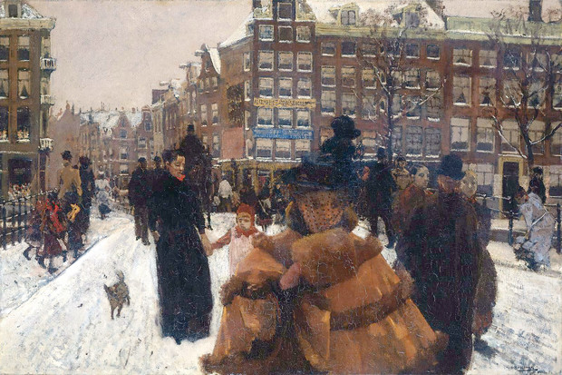 «Мост Сингел в Балестрате в Амстердаме», Георг Хендрик Брейтнер, 1896 или 1898 г.