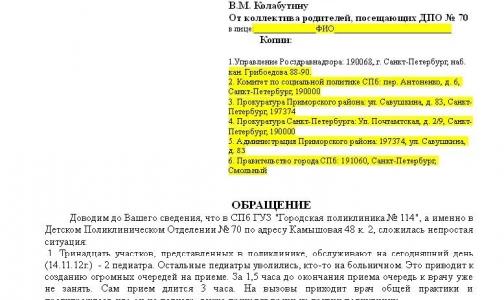Фото №1 - Петербургские родители просят прокуратуру узнать, куда исчезают участковые педиатры