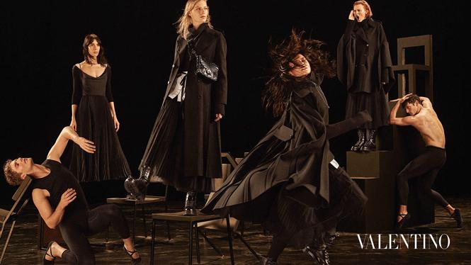 Фото №4 - Fashion-танец в осенней кампании Valentino