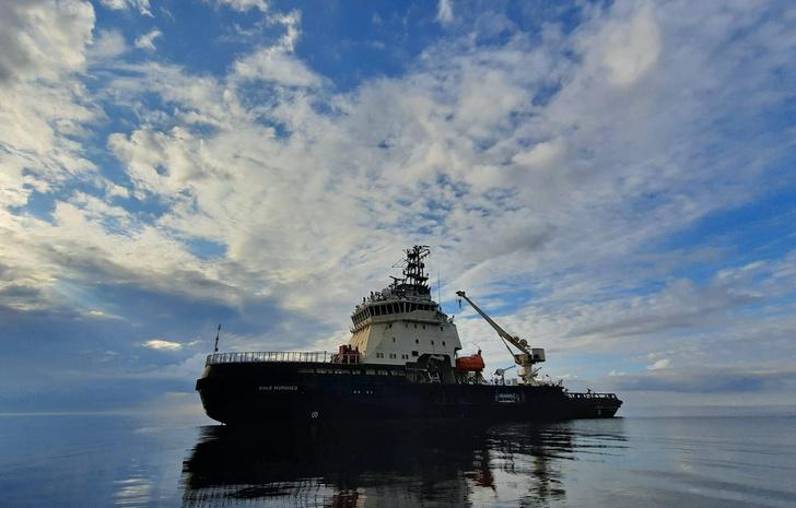 Фото №1 - Комплексная экспедиция РГО и Северного флота обследовала в Чукотском море затонувший пароход «Челюскин»