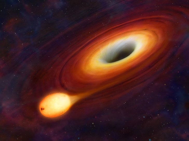 Фото №1 - Астрономы обнаружили ближайшую к черной дыре звезду