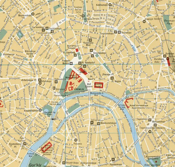 Фото №3 - Как выглядела карта Москвы 1986 года, составленная ЦРУ