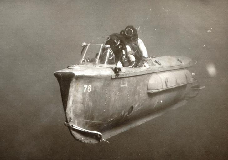 Пилотируемая торпеда, созданная в Израиле, 1967.
