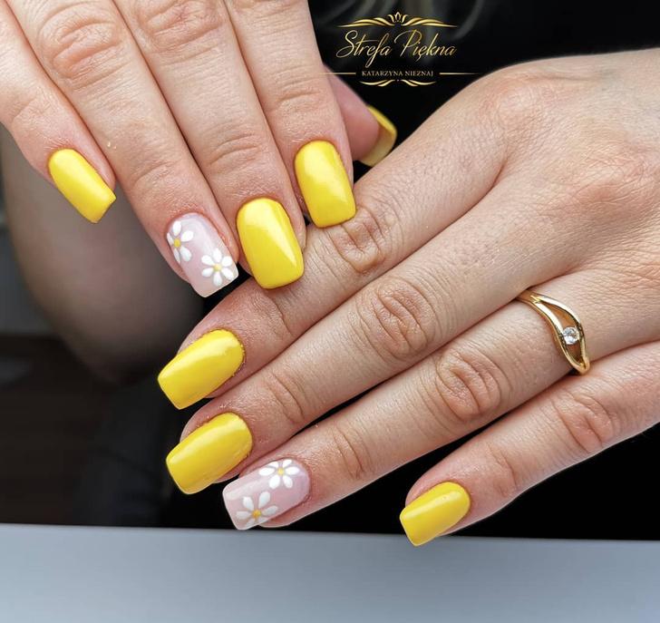 Фото №6 - Желтый маникюр: 10 модных идей для летних ногтей