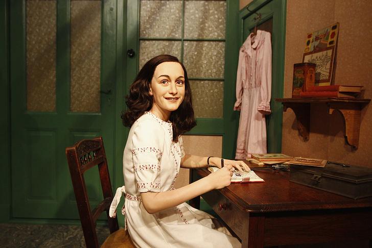Фигура Анны Франк в музее Тюссо.