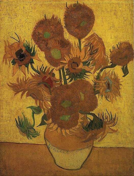Фото №1 - Ученые объяснили, почему «Подсолнухи» Ван Гога меняют цвет