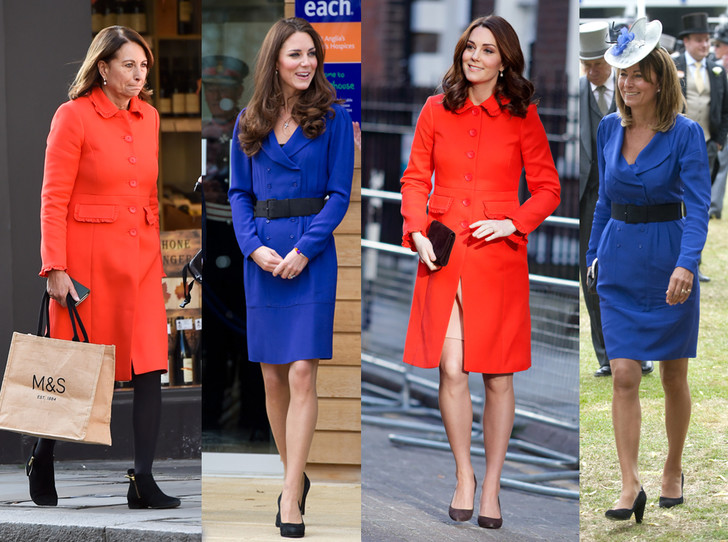 Фото №1 - Как (и зачем) Кейт и Кэрол Миддлтон меняются одеждой