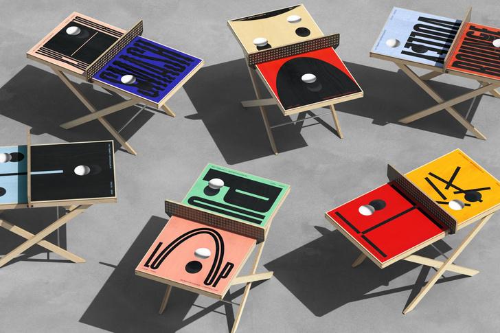 Фото №1 - Дизайнерские столы для пинг-понга: как вам такое решение?
