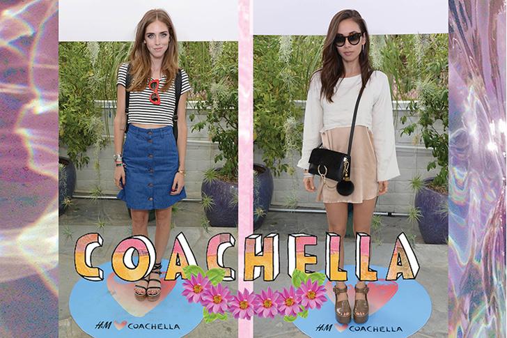 Гости фестиваля Coachella: блогер Кьяра Ферраньи, блогер Руми Нелли
