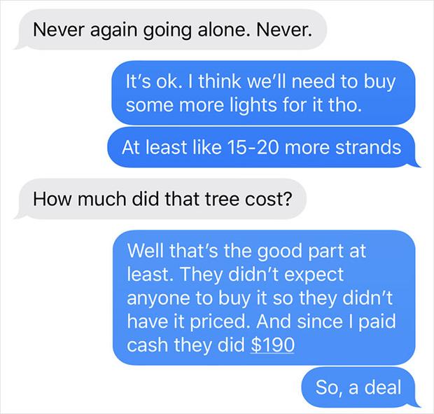Фото №6 - Муж поехал покупать елку и потроллил жену фотографиями