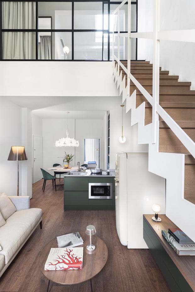 Фото №5 - Современная двухуровневая квартира во Флоренции