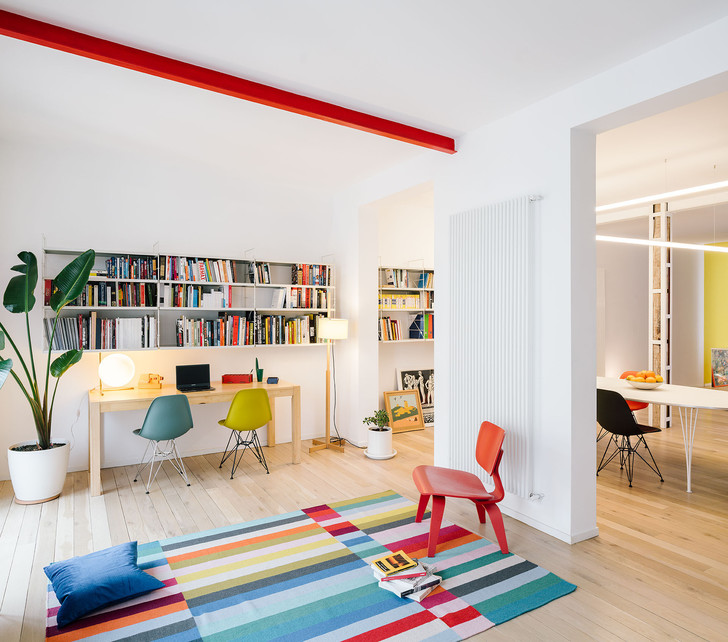 Фото №1 - Яркая квартира в Мадриде