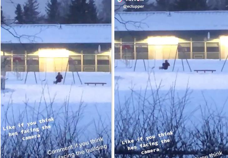 Фото №1 - Оптическая иллюзия: в какую сторону раскачивается человек на качелях (видео)