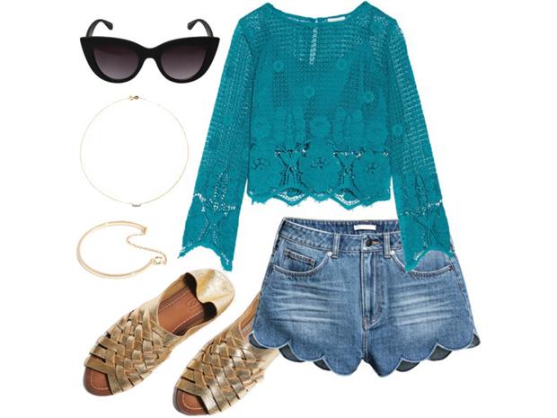 Фото №4 - Цвет настроения синий: отпускной гардероб в стиле Жасмин