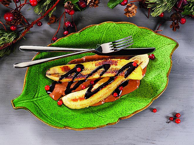 Сливочно-шоколадный десерт с бананами