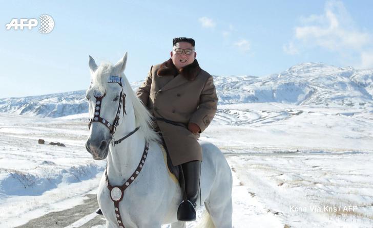 Фото №2 - Ким Чен Ын заехал на коне на священную гору, и эти фотографии обещают стать молниеносным мемом