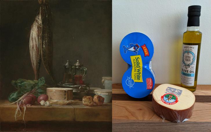 Фото №4 - Люди в карантине копируют шедевры живописи из всего, что под рукой: 13 удачных работ