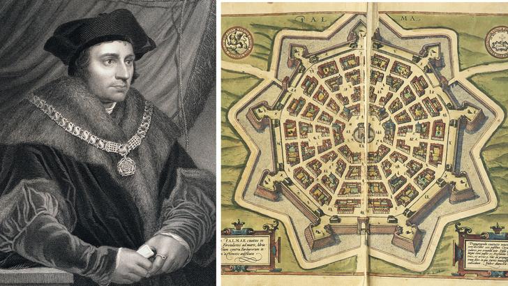 Томас Мор. Итальянский город-утопия Пальманова, карта XVI века