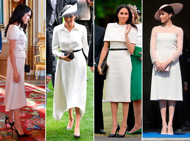 Фото №1 - Почему герцогиня Меган внезапно увлеклась розовым и бежевым