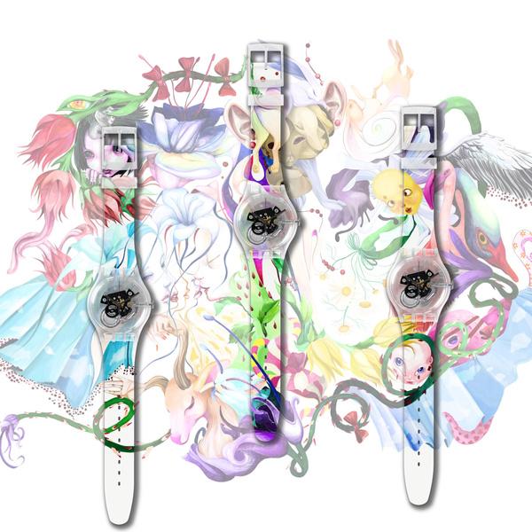 Фото №1 - Новая российская коллаборация Swatch x YOU: часы с креативом художницы Эллен Шейдлин