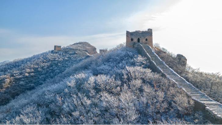 Фото №1 - Великая Китайская стена под снежным покровом