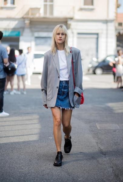 Фото №4 - С чем носить джинсовую юбку летом 2021