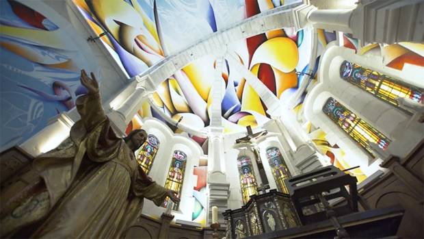 Фото №2 - Красочные граффити в церкви Святой Магдалины