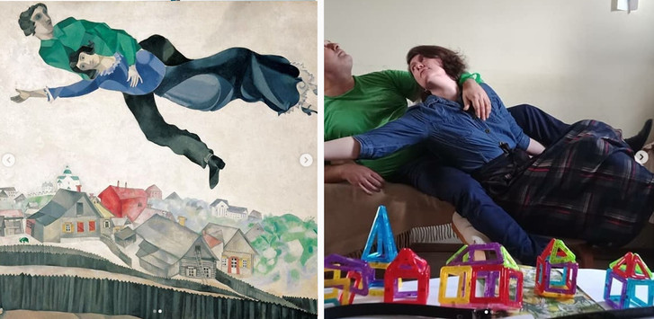 Фото №3 - #Изоизоляция: русскоязычные пользователи в карантине копируют знаменитые картины
