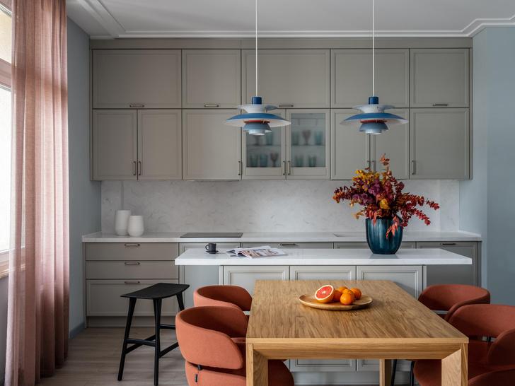 Фото №1 - Квартира 100 м² в оттенках зелени, моря, песка и заката