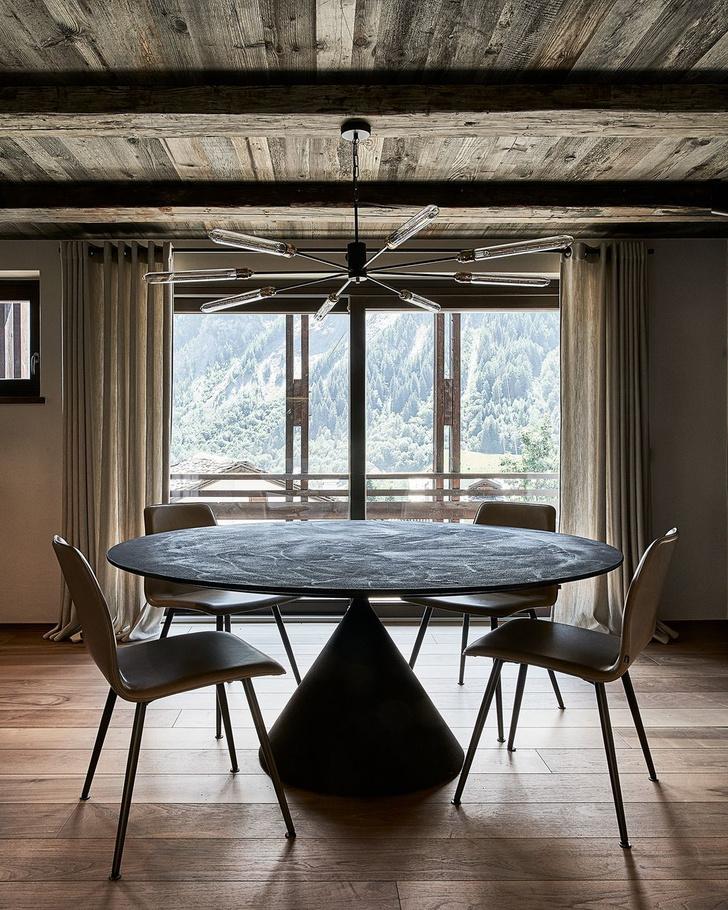 Фото №5 - Современное альпийское шале в оттенках серого