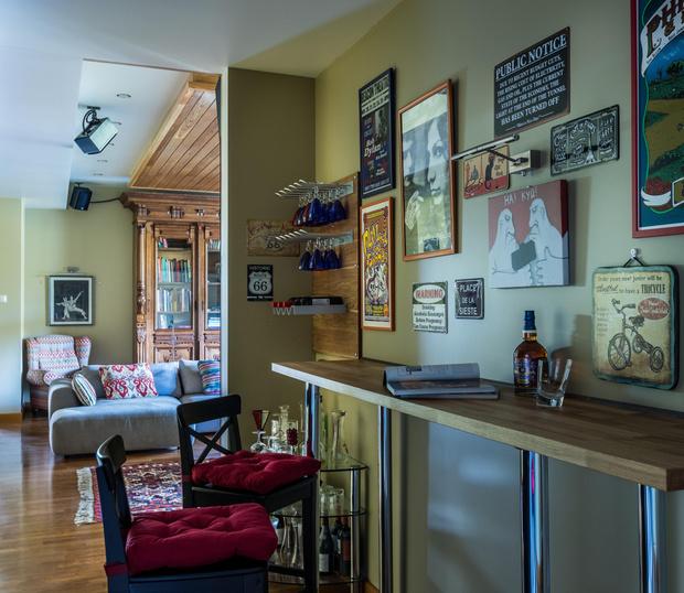 Фото №9 - Подмосковный дом в стиле Фрэнка Ллойда Райта