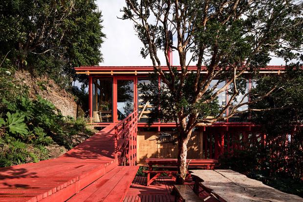 Фото №3 - Красный дом для барбекю в Чили
