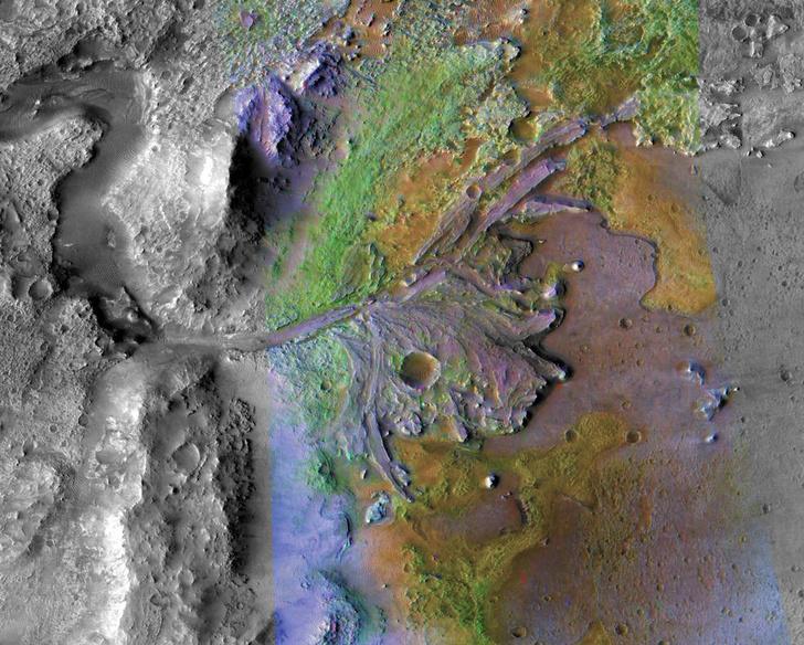 Фото №1 - НАСА отправит марсоход в кратер Джезеро