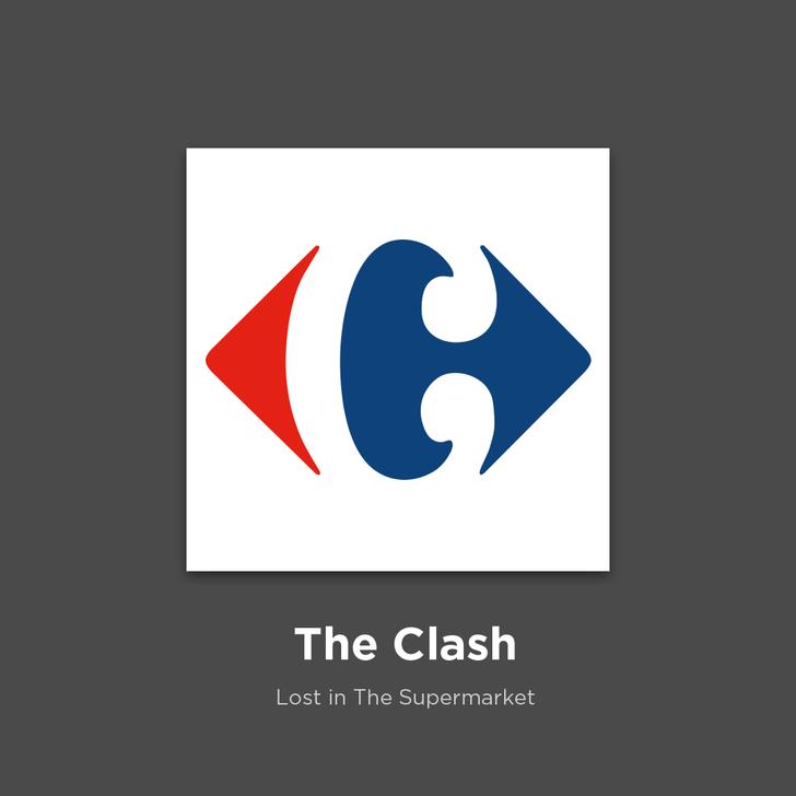 Фото №28 - 27 альбомов поп- и рок-звезд в виде известных логотипов