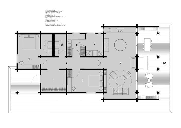 Фото №14 - Черный дом со светлым интерьером в Подмосковье