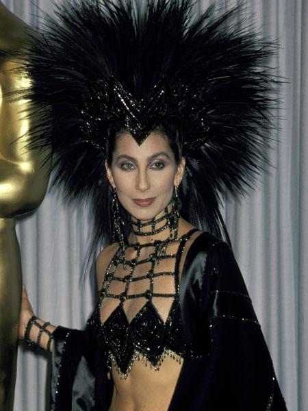 Шер, церемония Оскар, 1986 год фото