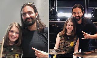 Ударник Slipknot встретился с девочкой, записавшей крутейшее барабанное видео, ставшее вирусным