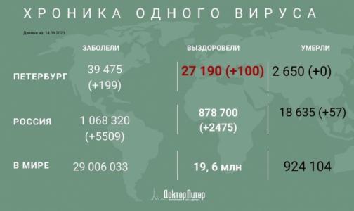 Фото №1 - Заболеваемость коронавирусом в Петербурге за сутки снизилась - его выявили у 199 человек