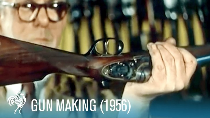 Фото №1 - Архивное видео: как производили ружья в 50-х годах XX века