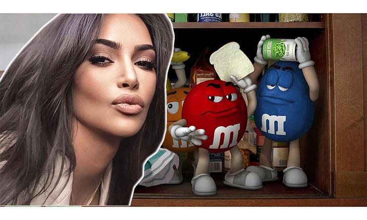 Фото №1 - Ким Кардашьян поделилась лайфхаком, как она ест M&M's (видео)