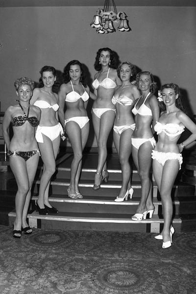 "Претендентки за звание мисс мира"", 1951 год"
