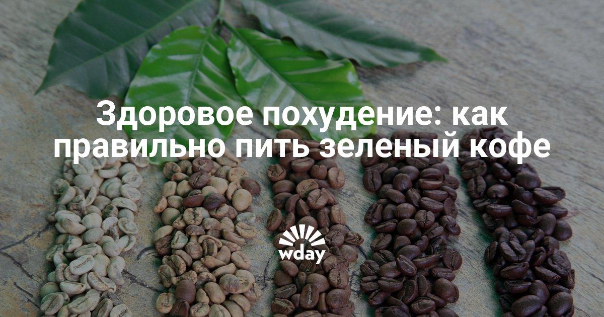 Как правильно похудеть с зеленым кофе