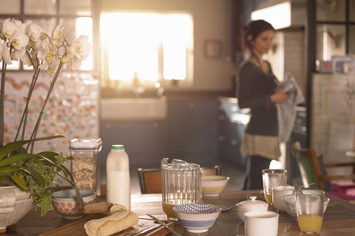 Утро, кухня