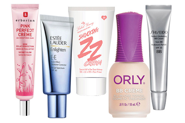 PP-крем «Совершенное сияние», Erborian; EE-крем Enlighten, Estée Lauder; ZZ-крем Shocking ZZ cream, Label Young; ВВ-крем для ногтей, Orly; крем Perfect Hydrating BB Cream, Shiseido