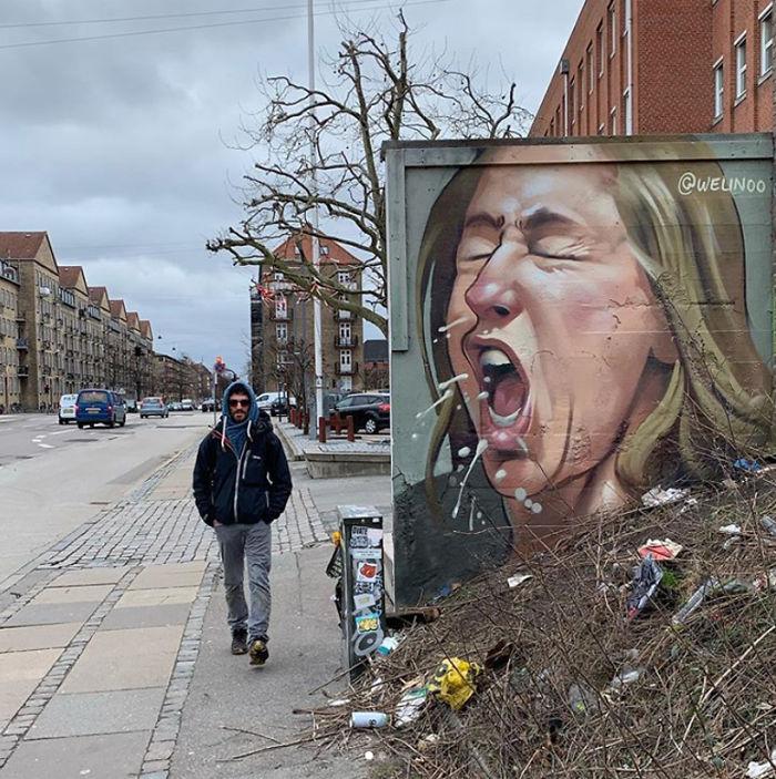 Фото №14 - 20 граффити со всего мира, навеянные коронавирусом
