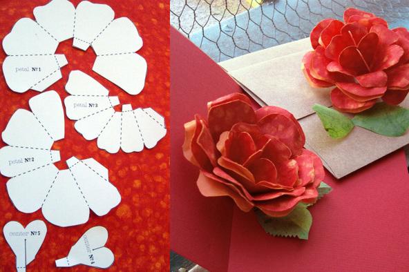 Розы для открытки своими руками, рождением